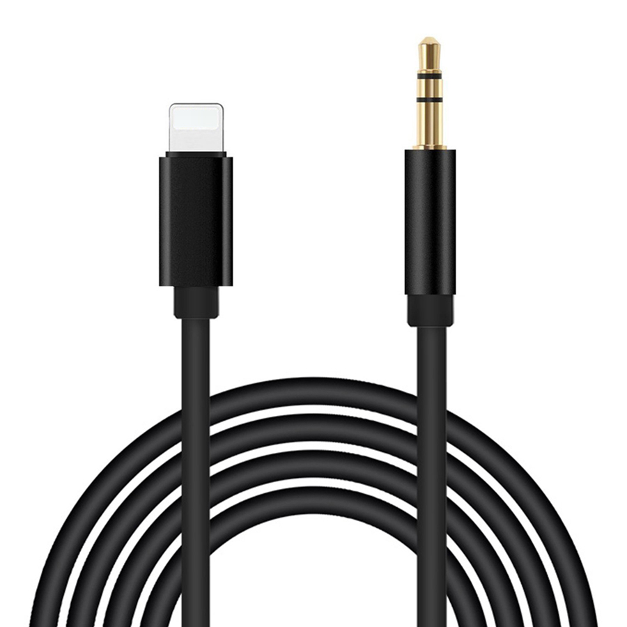 1 Meter for Lightning to 3.5mm Audio Cable Male AUX Stereo Wire Adapter Cord for iPhone 7 7 Plus 8 8 Plus X to Car