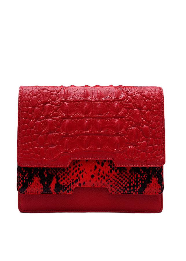 Túi xách tay nữ da bò thật dập vân màu đỏ ET726