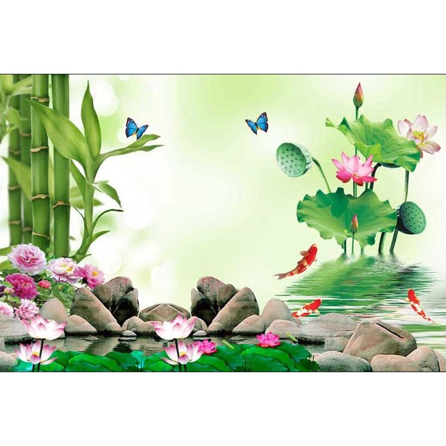 Tranh dán tường 3d | Tranh dán tường phong thủy hoa sen cá chép 3d 351 - 1320539 , 3097843531003 , 62_5319279 , 450000 , Tranh-dan-tuong-3d-Tranh-dan-tuong-phong-thuy-hoa-sen-ca-chep-3d-351-62_5319279 , tiki.vn , Tranh dán tường 3d | Tranh dán tường phong thủy hoa sen cá chép 3d 351