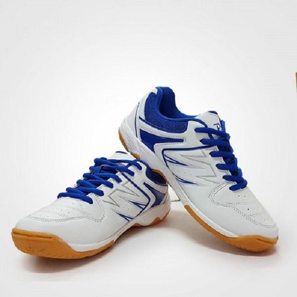 Giày cầu lông Nam Promax Chuyên nghiệp PR17009 - màu trắng xanh- Tặng bình làm sạch giày cao cấp
