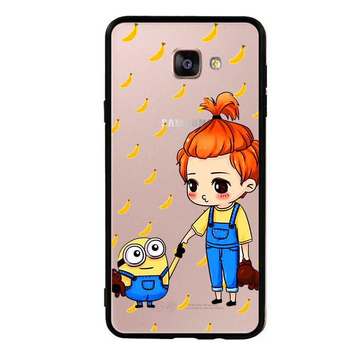 Ốp lưng nhựa cứng viền dẻo TPU cho điện thoại Samsung Galaxy A9  - Minion 05