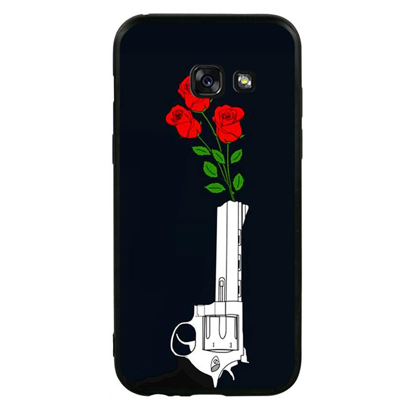 Ốp lưng viền TPU cao cấp cho điện thoại Samsung Galaxy A3 2017 - Rose 07