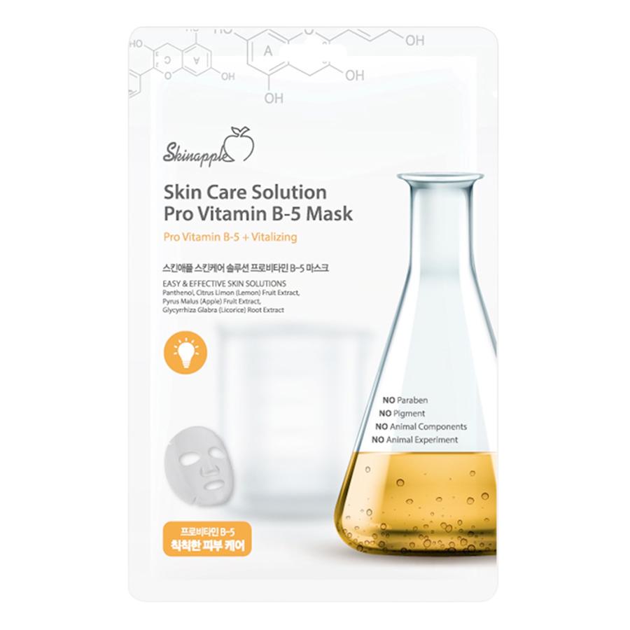 Mặt Nạ Skinapple Vitamin B5 Phục Hồi Da, Làm Sáng Da (10 Miếng/Hộp)