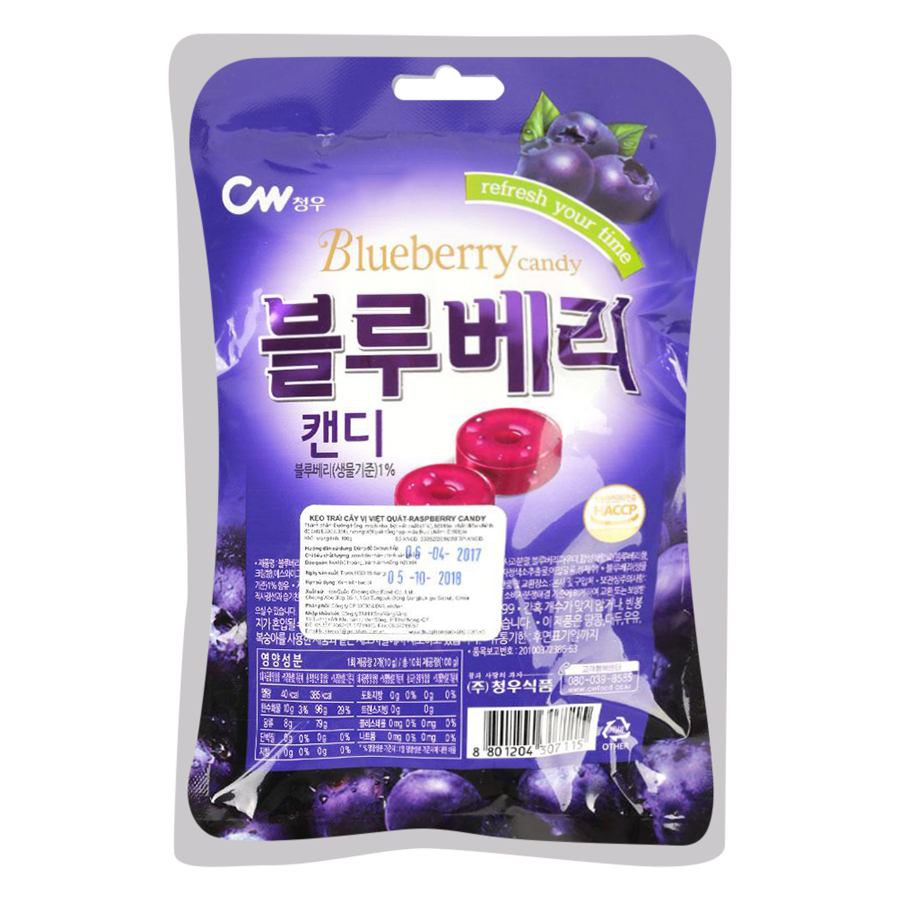 Kẹo Trái Cây Vị Việt Quất CW (100g)