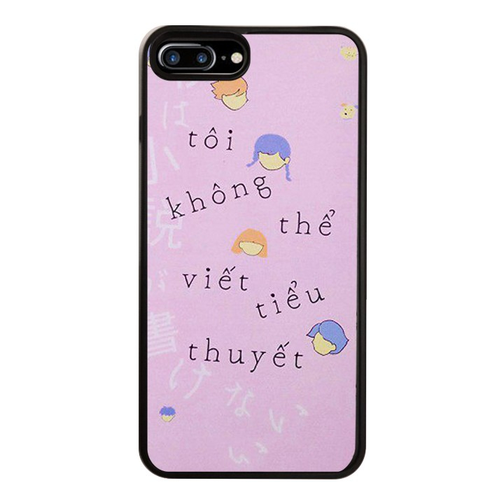 Ốp Lưng Kính Cường Lực Dành Cho Điện Thoại iPhone 7 Plus / 8 Plus Tiểu Thuyết