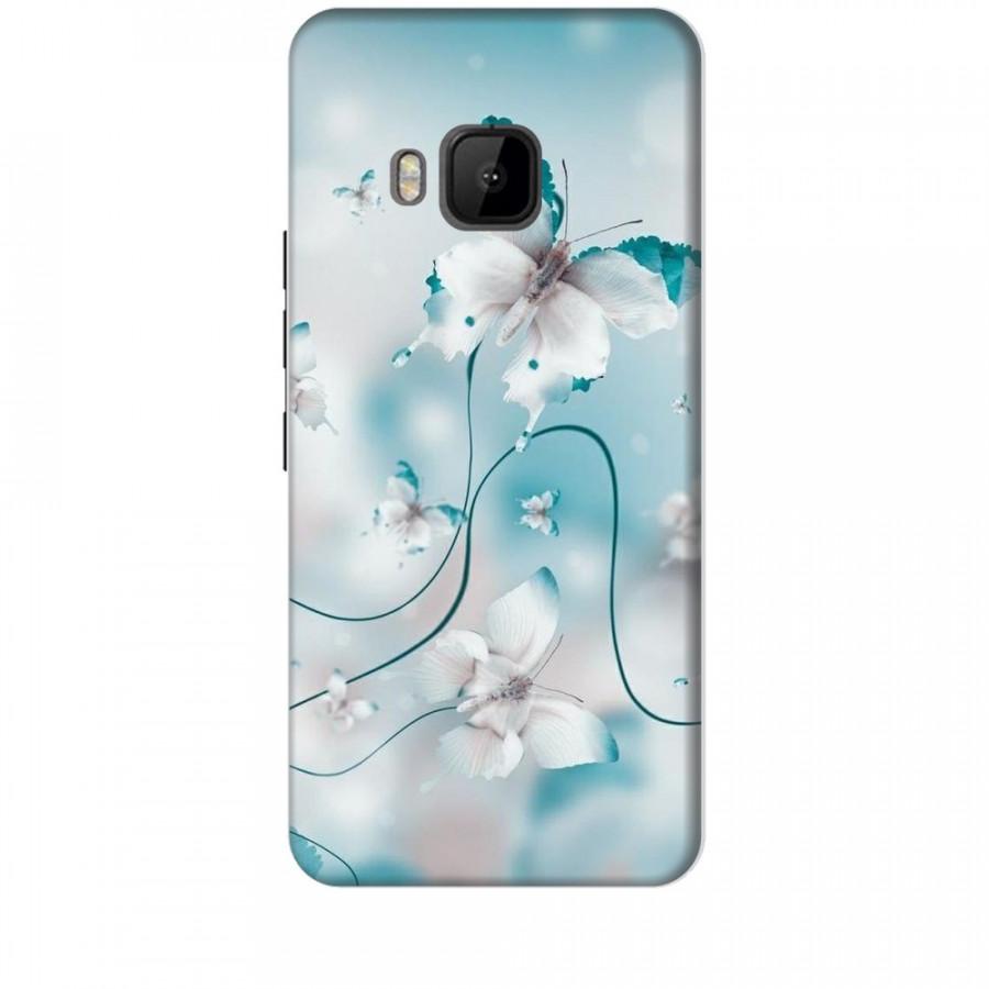 Ốp lưng dành cho điện thoại HTC M9 Cánh Bướm Xanh Mẫu 1