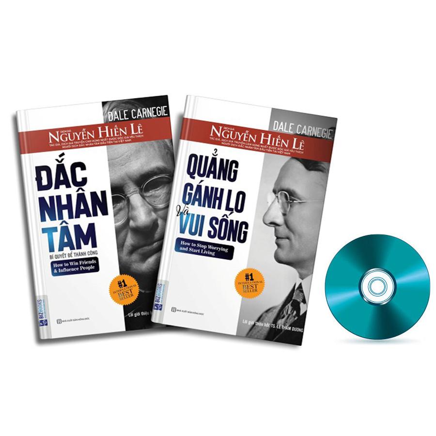 Combo Đắc Nhân Tâm + Quẳng Gánh Lo (Phiên bản đặc biệt) kèm CD Sách Nói Hướng Dẫn Ứng Dụng Đắc Nhân Tâm