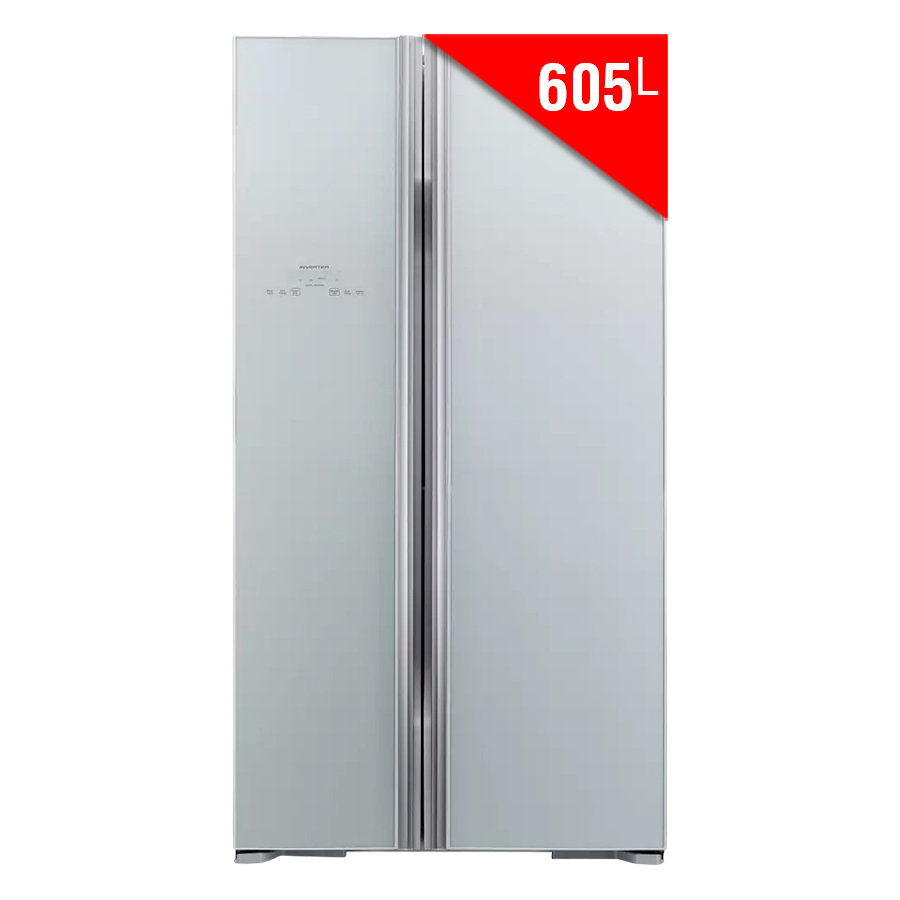 Tủ Lạnh Side By Side Inverter Hitachi R-S700PGV2-GS (605L) - Bạc - 9448814 , 2294814628118 , 62_18002002 , 39500000 , Tu-Lanh-Side-By-Side-Inverter-Hitachi-R-S700PGV2-GS-605L-Bac-62_18002002 , tiki.vn , Tủ Lạnh Side By Side Inverter Hitachi R-S700PGV2-GS (605L) - Bạc