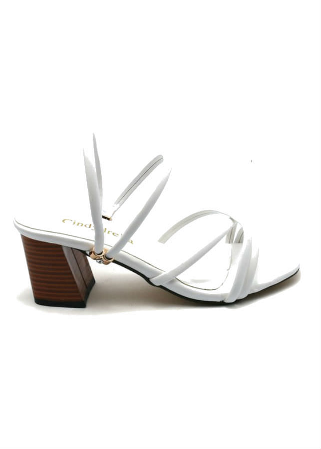 Giày Sandal Nữ Cao Gót Dây Cindydrella C126T - Trắng