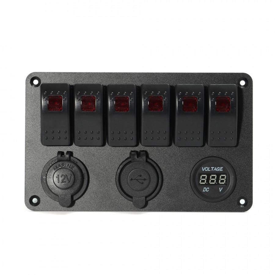 Bảng Điều Khiển Vôn Kế Bộ Sạc USB Kép 6 Nút Bấm LED - 5032489 , 8346000075740 , 62_15229723 , 1263000 , Bang-Dieu-Khien-Von-Ke-Bo-Sac-USB-Kep-6-Nut-Bam-LED-62_15229723 , tiki.vn , Bảng Điều Khiển Vôn Kế Bộ Sạc USB Kép 6 Nút Bấm LED