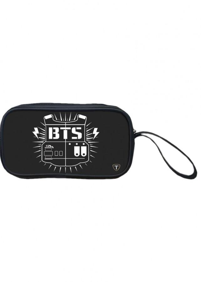 Bóp đựng bút viết, mỹ phẩm TROY in logo nhóm nhạc BTS - 1261461 , 8916924469460 , 62_8256161 , 99000 , Bop-dung-but-viet-my-pham-TROY-in-logo-nhom-nhac-BTS-62_8256161 , tiki.vn , Bóp đựng bút viết, mỹ phẩm TROY in logo nhóm nhạc BTS