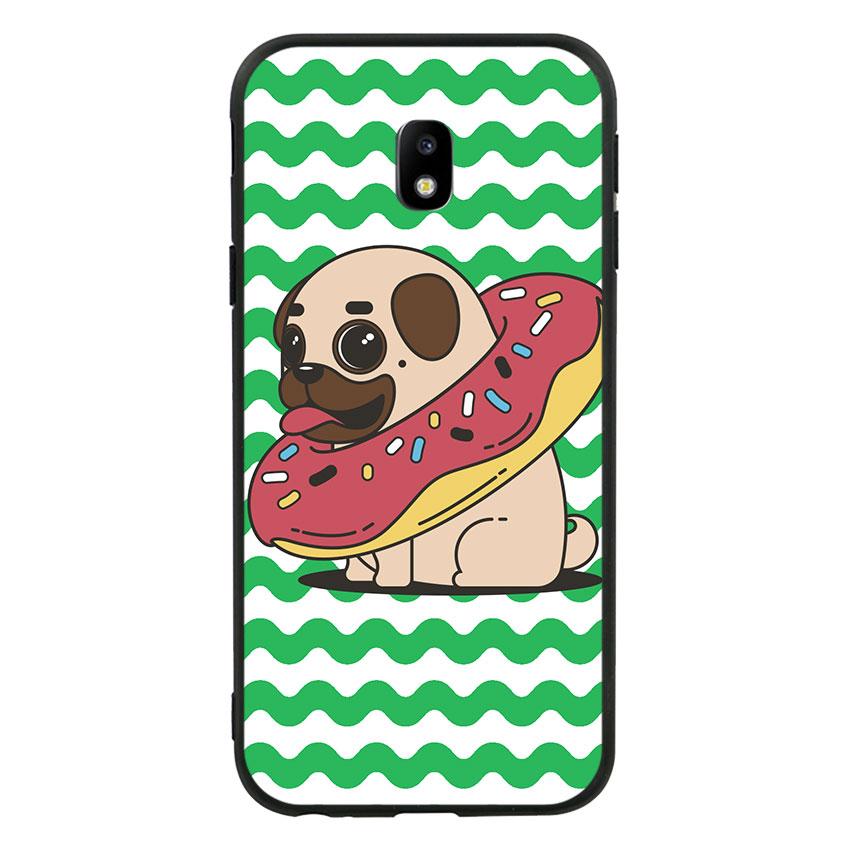 Ốp lưng nhựa cứng viền dẻo TPU cho Samsung Galaxy J3 Pro 2017 - Cute Dog 04
