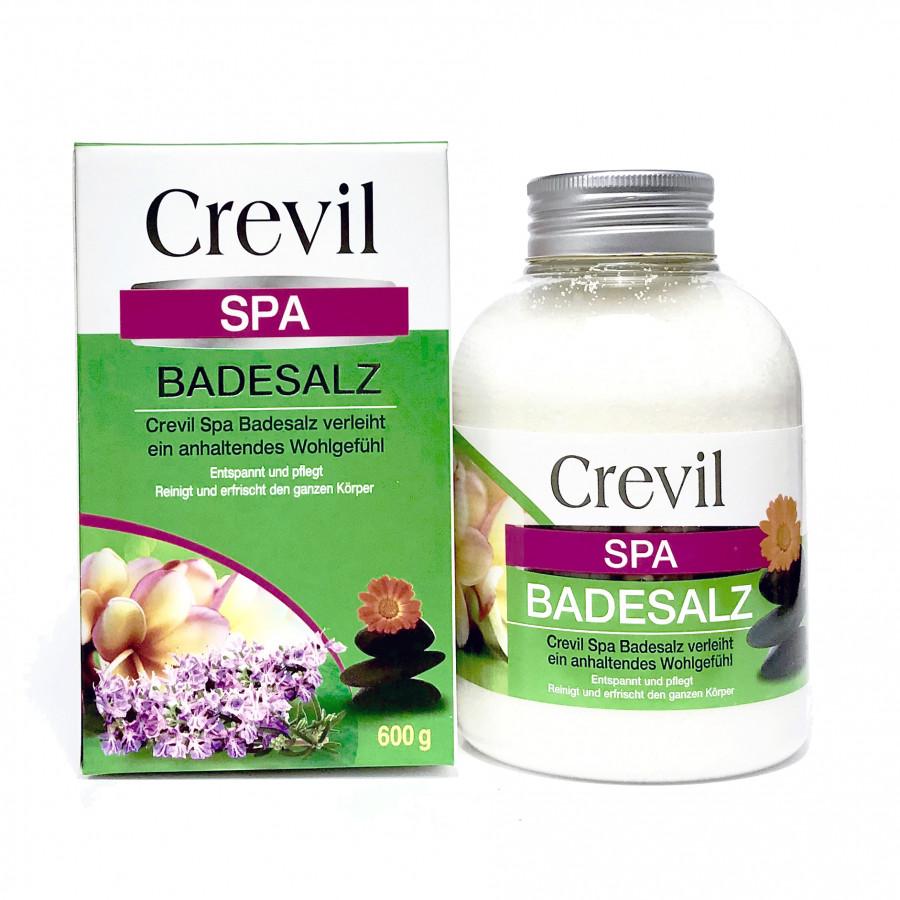Muối tắm spa thảo dược tẩy tế bào chết Crevil Spa Badesalz của Đức (600g) - KBM02