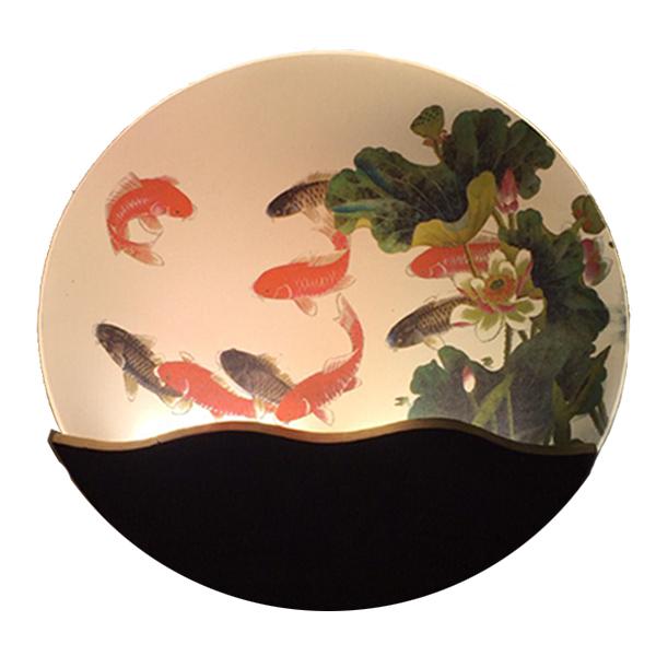 Đèn trang trí gắn tường phòng ngủ, phòng khách LED hình cá 3 màu ánh sáng