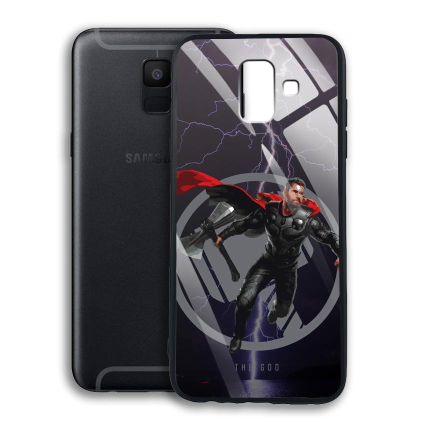 Ốp Lưng Kính Cường Lực cho điện thoại Samsung Galaxy A6 - 03008 0540 GOD01 - Hàng Chính Hãng