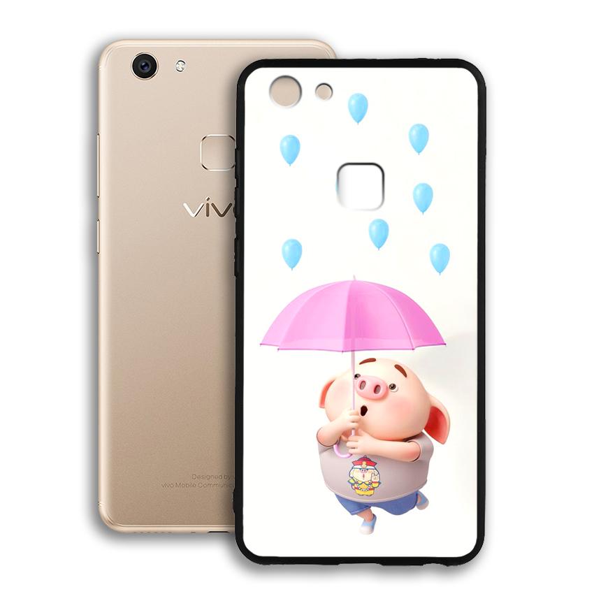 Ốp lưng viền TPU cho điện thoại Vivo V7 - 02072 0523 PIG26 - Hàng Chính Hãng