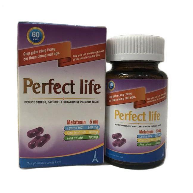 Thực phẩm chức năng chữa mất ngủ thảo dược hiệu quả Perfect Life(60v) - 768218 , 6953055736193 , 62_10007901 , 299000 , Thuc-pham-chuc-nang-chua-mat-ngu-thao-duoc-hieu-qua-Perfect-Life60v-62_10007901 , tiki.vn , Thực phẩm chức năng chữa mất ngủ thảo dược hiệu quả Perfect Life(60v)