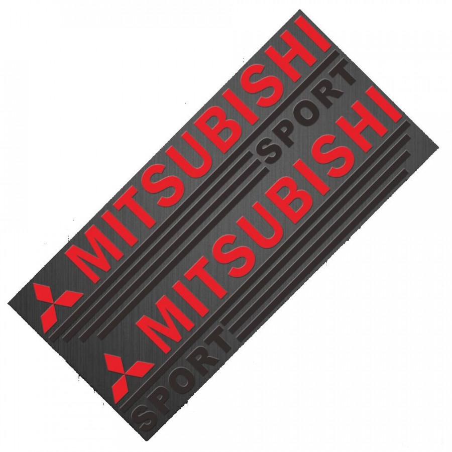 Bộ 2 Tem Dán Gương Chiếu Hậu Ô Tô MITSUBISHI AZONE