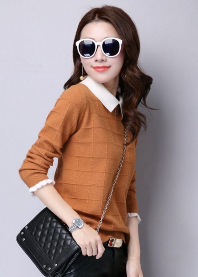 Áo len nữ cổ bẻ TK01336
