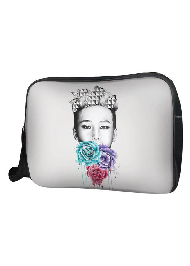 Túi Đeo Chéo Hộp Unisex G-Dragon Và 3 Đóa Hoa - TCKC015