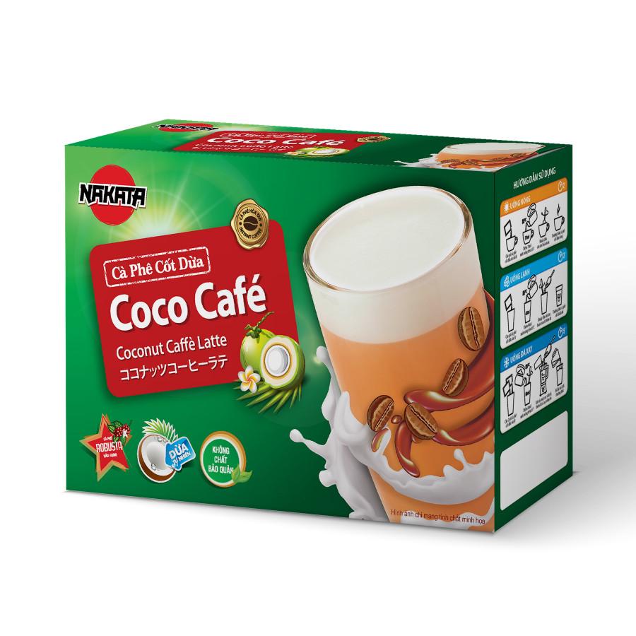 Cà phê cốt dừa hiệu Nakata coco cafe hộp 108g
