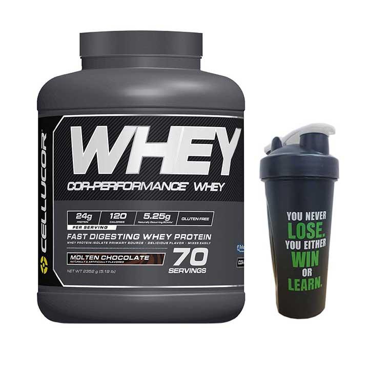 Combo Sữa tăng cơ cao cấp Cor-Performance Whey Protein của Cellucor hương socola 70 lần dùng  Bình lắc 600 ml (Màu Ngẫu... - 1071310 , 7718525884175 , 62_3675693 , 2100000 , Combo-Sua-tang-co-cao-cap-Cor-Performance-Whey-Protein-cua-Cellucor-huong-socola-70-lan-dung-Binh-lac-600-ml-Mau-Ngau...-62_3675693 , tiki.vn , Combo Sữa tăng cơ cao cấp Cor-Performance Whey Protein của Cel