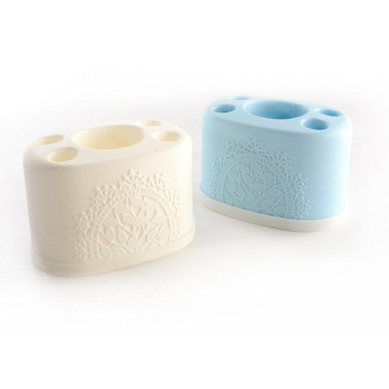 Bộ 3 kệ để kem đánh răng và bàn chải tiện dụng (giao màu ngẫu nhiên) - Hàng nội địa Nhật