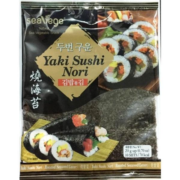 Rong biển Cuộn cơm Yaki Sushi Nori 20G (10 miếng/gói)