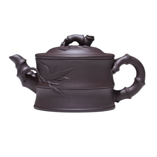 JI Yang Zisha pot pure hand-made famous teapot Kung Fu tea set Yixing original mine purple mud bamboo section pot 430ml
