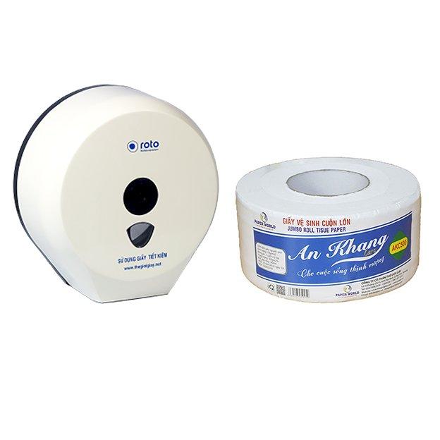 Combo 2 hộp đựng giấy vệ sinh cuộn lớn Roto RT3203A( Trắng) và 10 cuộn giấy vệ sinh cuộn lớn An Khang Caro500 - 1155889 , 7258142071492 , 62_4586327 , 1039000 , Combo-2-hop-dung-giay-ve-sinh-cuon-lon-Roto-RT3203A-Trang-va-10-cuon-giay-ve-sinh-cuon-lon-An-Khang-Caro500-62_4586327 , tiki.vn , Combo 2 hộp đựng giấy vệ sinh cuộn lớn Roto RT3203A( Trắng) và 10 cuộn