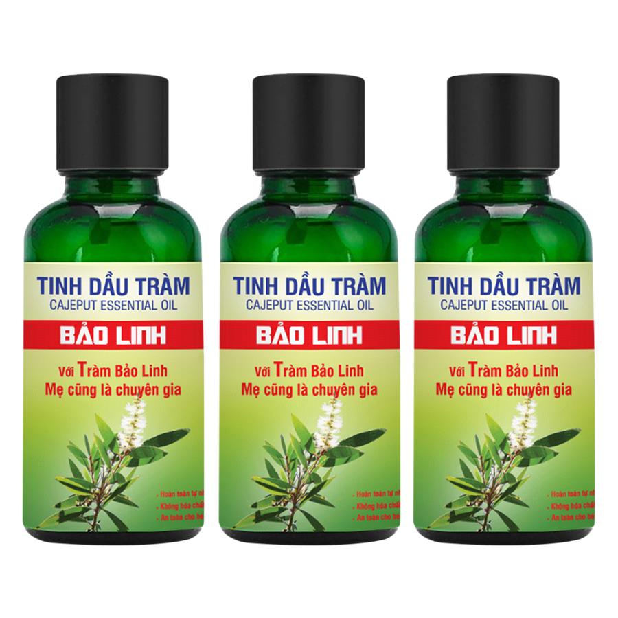 Combo 3 Chai Tinh Dầu Tràm Bảo Linh (30ml) (Tặng 1 Dầu Xoa Bóp 60ml)