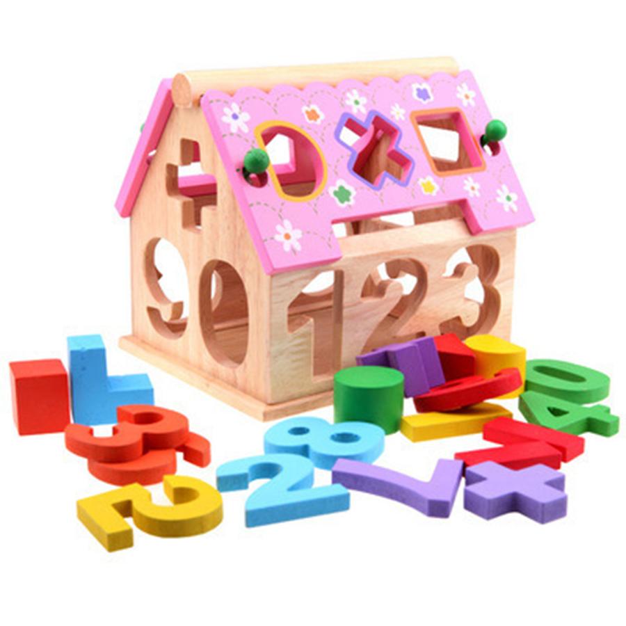 Đồ chơi gỗ Ngôi nhà thả số và hình - TotdepreHG2030