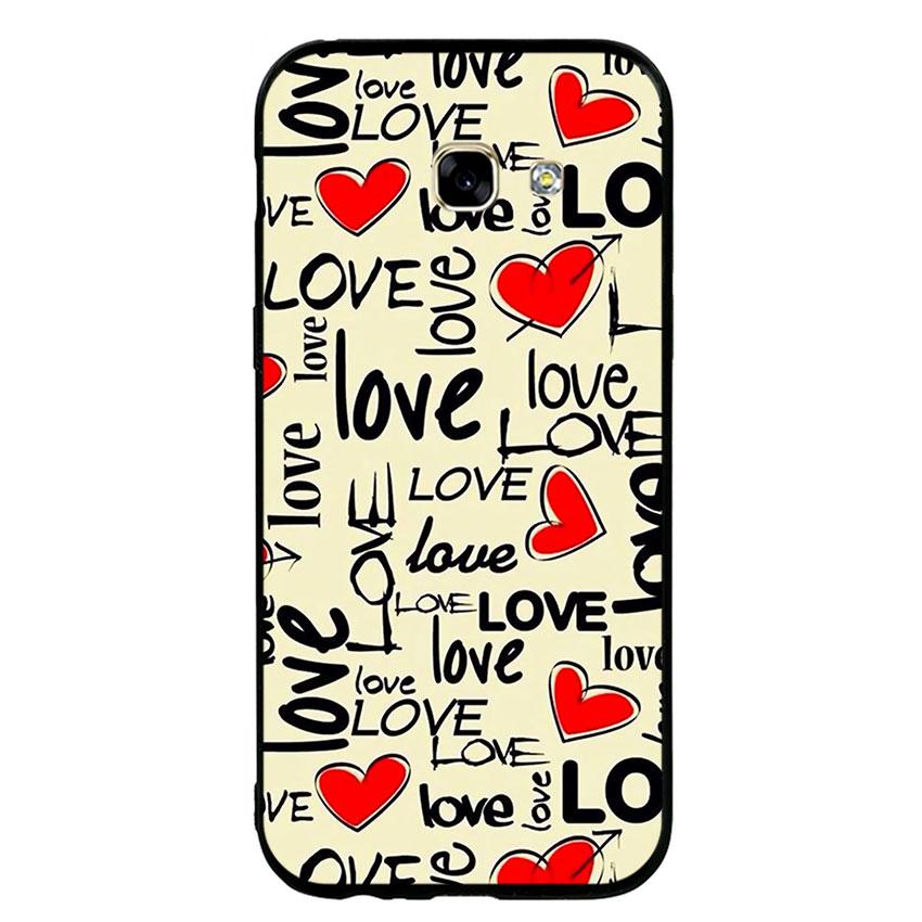 Ốp Lưng Viền TPU cho điện thoại Samsung Galaxy A5 2017 - Love 06