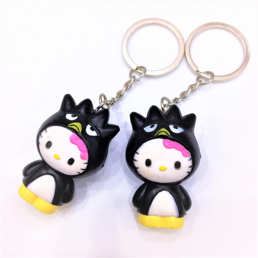 Combo 2 móc khóa hình mèo đen tai tròn đáng yêu - COUPLE