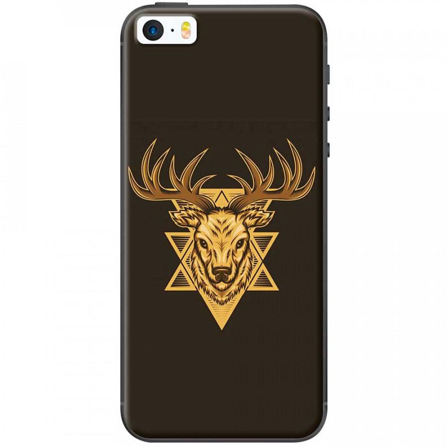 Ốp lưng dành cho iPhone 5, iPhone 5S, iPhone SE mẫu Hươu nền đen