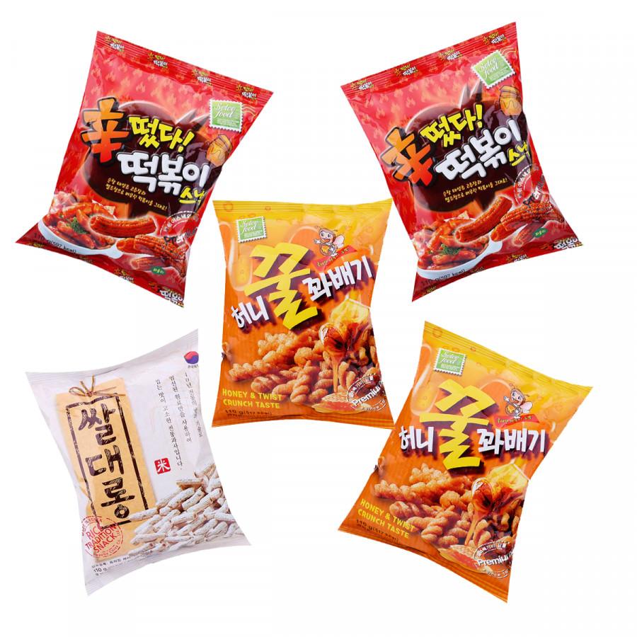 Combo 5 gói snack Hàn Quốc 3 vị siêu ngon: 2 topokki cay ngọt, 2 quẩy xoắn vị mật ong, 1 ống gạo truyền thống - 18291788 , 8666198355951 , 62_7857378 , 150000 , Combo-5-goi-snack-Han-Quoc-3-vi-sieu-ngon-2-topokki-cay-ngot-2-quay-xoan-vi-mat-ong-1-ong-gao-truyen-thong-62_7857378 , tiki.vn , Combo 5 gói snack Hàn Quốc 3 vị siêu ngon: 2 topokki cay ngọt, 2 quẩy x