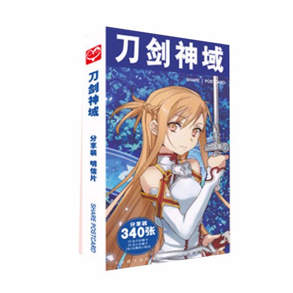 Hộp ảnh Postcard Sword Art online ver 3 mẫu 2 nền xanh dương thiết kế độc đáo