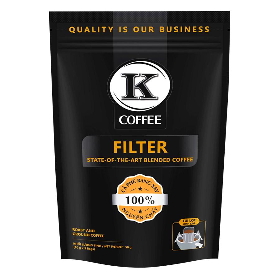 Cà Phê Túi Lọc K-Coffee Filter (50g / Túi)
