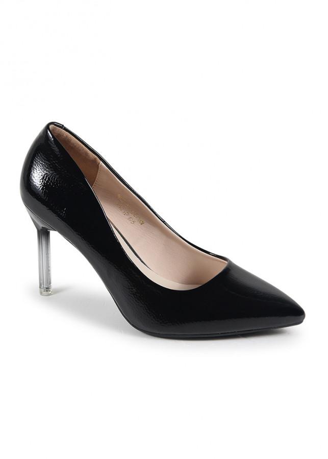 Giày cao gót mũi nhọn si bóng trơn H07019 Nados