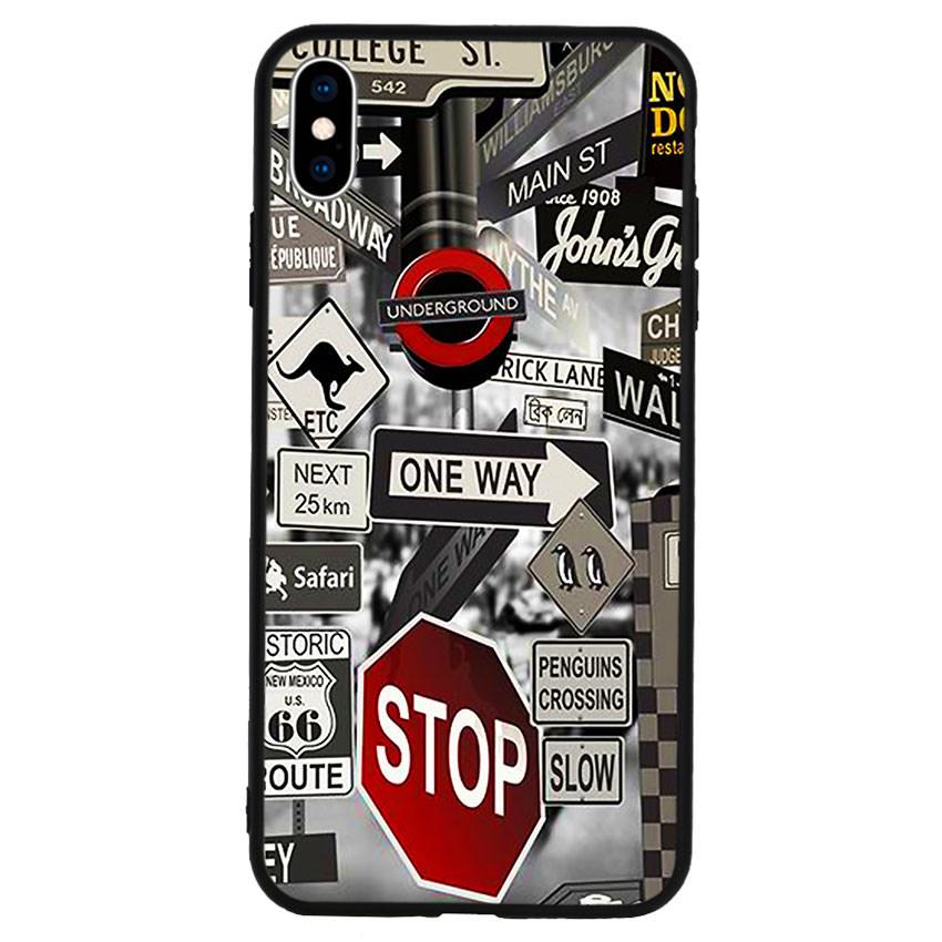 Ốp lưng viền TPU cho điện thoại Iphone Xs Max -Street 01