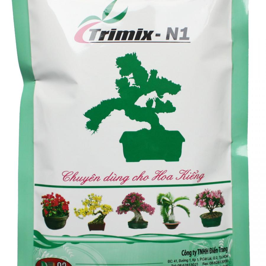 Phân bón hữu cơ sinh học Trimix N1 tốt cây xanh lá - dạng viên tan chậm (gói 700g) - Trimix N1 organic fertilizers 700grs/bags