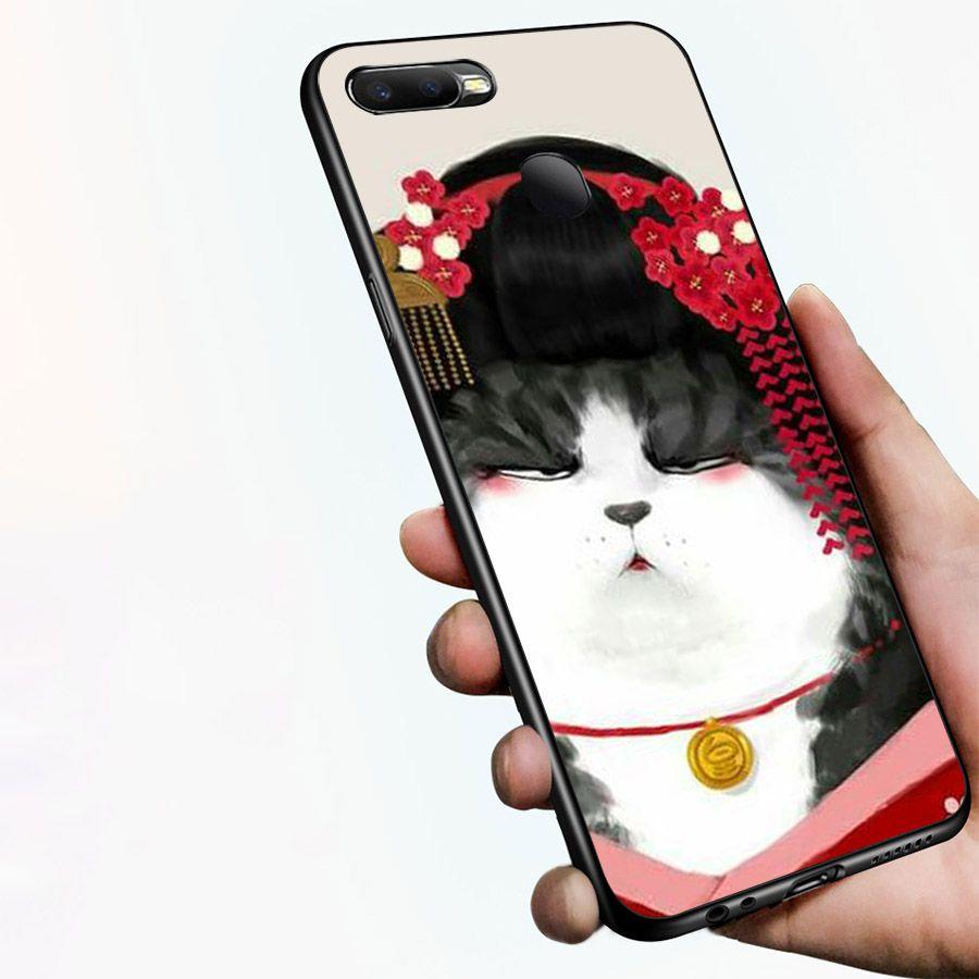 Ốp kính cường lực dành cho điện thoại Oppo F9 - A7 - vua mèo - vmeo006