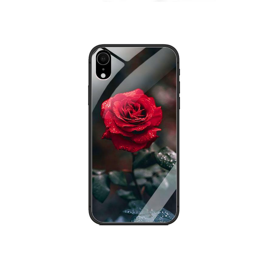 Ốp Lưng Kính Cường Lực cho điện thoại Iphone XR - 0322 ROSE08