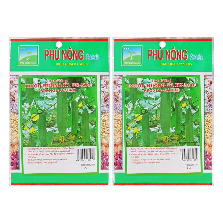 Bộ 2 Gói Hạt Giống Mướp Hương Thái Lan F1 PN-500 Phú Nông (1g / Gói) - 904616 , 8049520629751 , 62_2071105 , 52000 , Bo-2-Goi-Hat-Giong-Muop-Huong-Thai-Lan-F1-PN-500-Phu-Nong-1g--Goi-62_2071105 , tiki.vn , Bộ 2 Gói Hạt Giống Mướp Hương Thái Lan F1 PN-500 Phú Nông (1g / Gói)