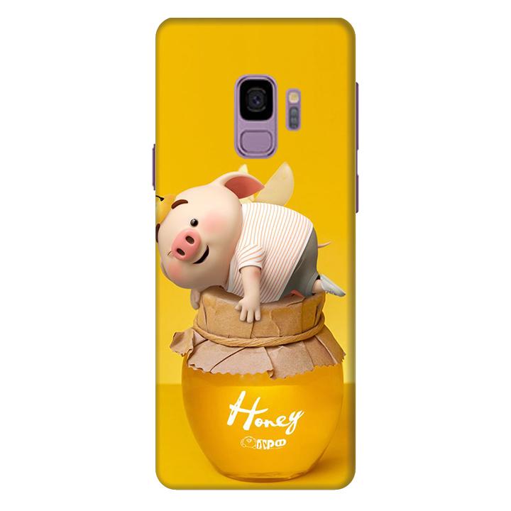 Ốp lưng nhựa cứng nhám dành cho Samsung Galaxy S9 in hình Heo Cute
