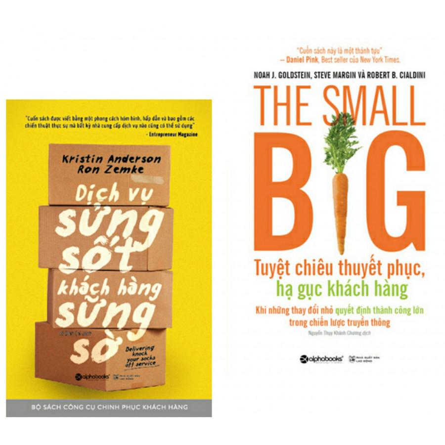 Combo sách hay bất kì nhà cung cấp dịch vụ nào cũng cần có :  Dịch vụ sửng sốt khách hàng sững sờ  + The small big...