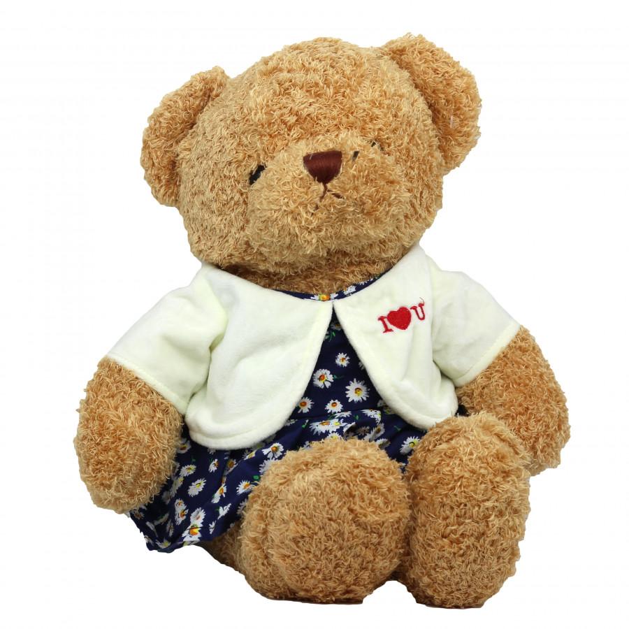 Thú Bông Hình Gấu Nữ I Love U Ngộ Nghĩnh 50CM