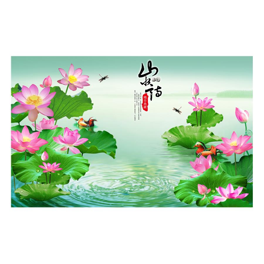 Tranh Hoa Sen Dán Tường -  Mã 89 - 1369794 , 7083451662297 , 62_8214154 , 180000 , Tranh-Hoa-Sen-Dan-Tuong-Ma-89-62_8214154 , tiki.vn , Tranh Hoa Sen Dán Tường -  Mã 89