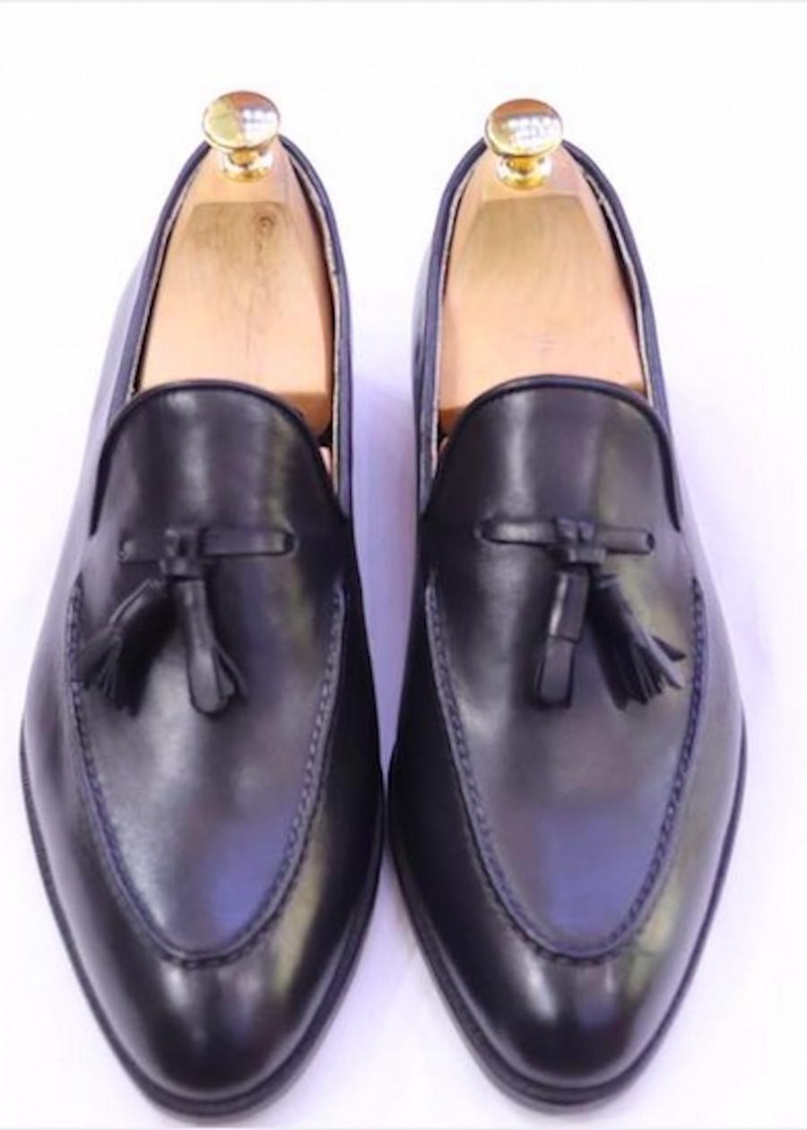Giày tây lười nam 100% da bò ý nhập đánh patina đế da màu đen GMN19 - 2255189 , 5509762937371 , 62_14464290 , 2550000 , Giay-tay-luoi-nam-100Phan-Tram-da-bo-y-nhap-danh-patina-de-da-mau-den-GMN19-62_14464290 , tiki.vn , Giày tây lười nam 100% da bò ý nhập đánh patina đế da màu đen GMN19