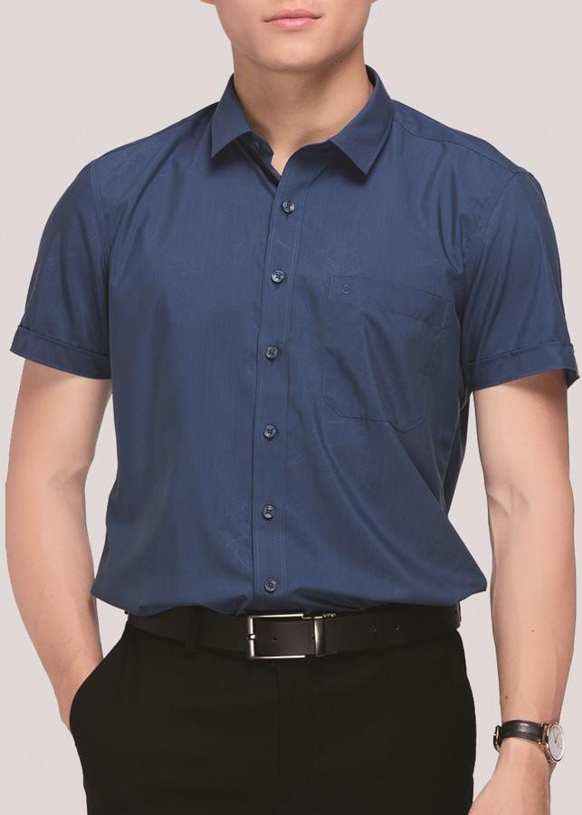 Áo Sơ Mi Nam Ngắn Tay Bodyfit Owen BA80978N - Xanh Cổ Vịt